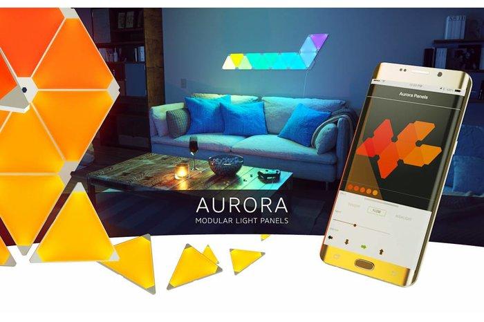 Nanoleaf Aurora Smarter Kit, Starterset met 9 led panelen