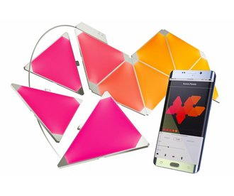 Aurora Nanoleaf Aurora Smarter Kit, Starterset met 9 led panelen en APP