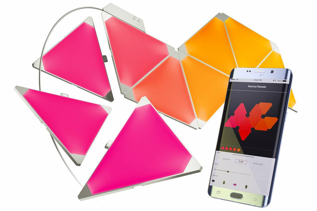 Aurora Nanoleaf Aurora Smarter Kit, Starterset met 9 led panelen