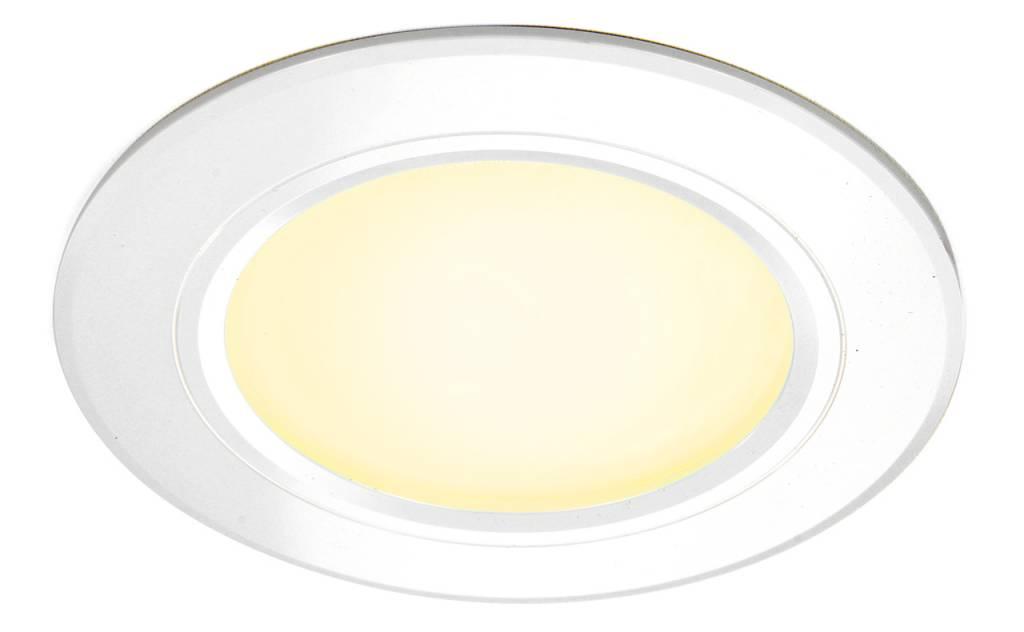 LED Inbouwspot Mi-Light 6W RGBWW Kleur + Dual White 220V. Satijn Wit ⌀120mm