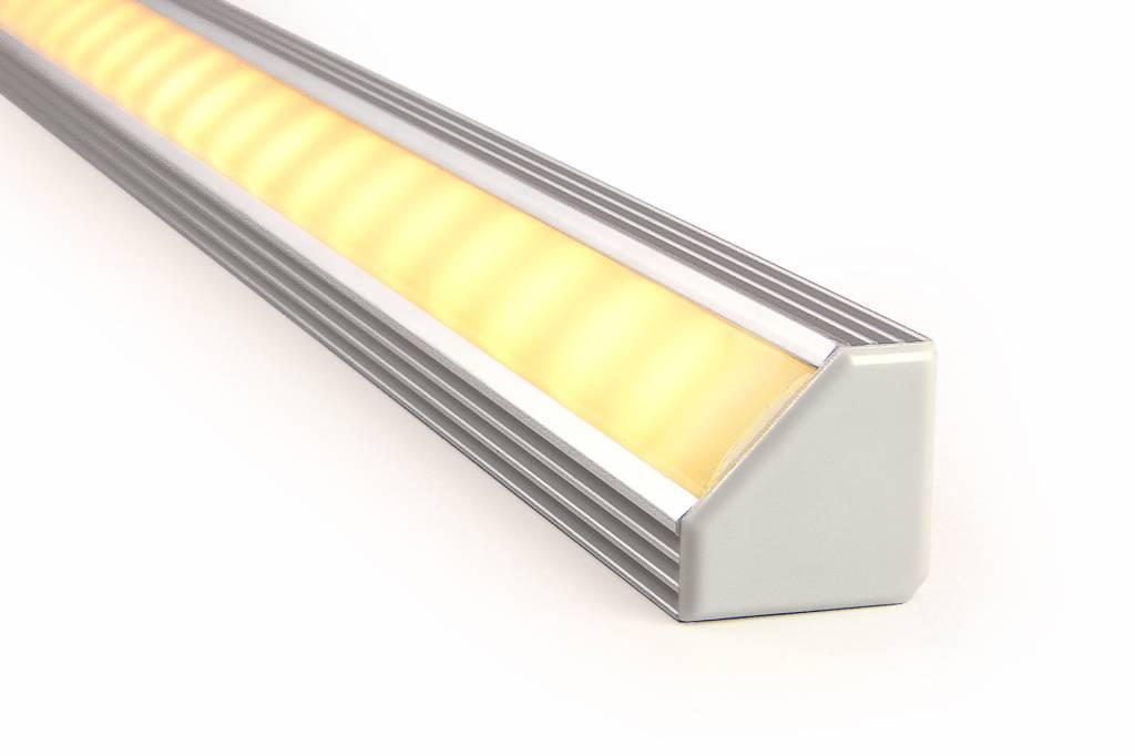 AppLamp Aluminium LED strip profiel 2 meter doorlopend, incl. mist cover