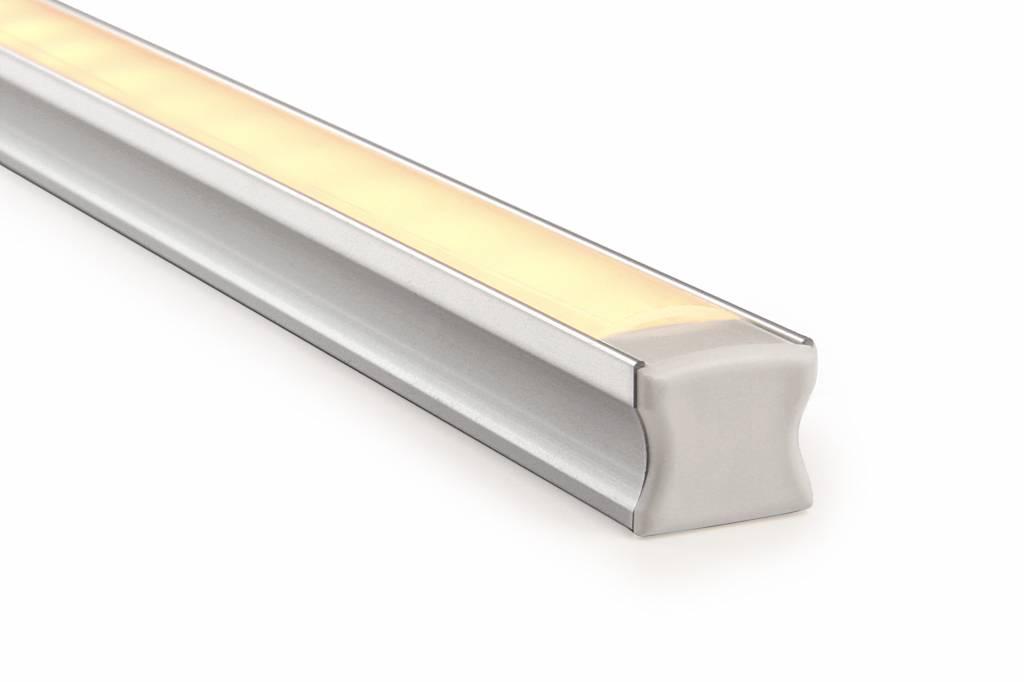 LED strip profiel 2 meter, type 1715 incl. mist cover