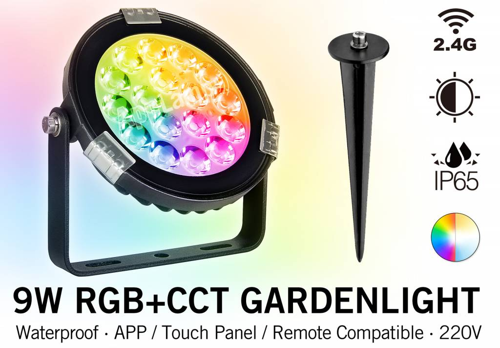 Mi-light 9W RGBW 220V LED Tuinspot Verlichting