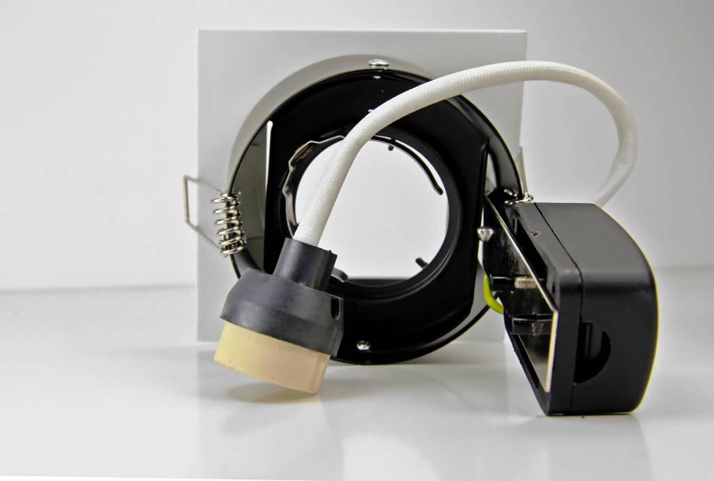 Mi·Light LED Inbouwspot CELESTE, GU10 Armatuur,Wit Verdiept vIERKANT, Tilt 10°