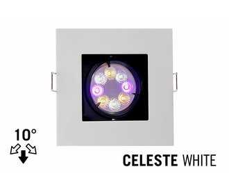 Mi·Light LED Inbouwspot CELESTE, GU10 Armatuur, Wit Verdiept Vierkant, Tilt 10°