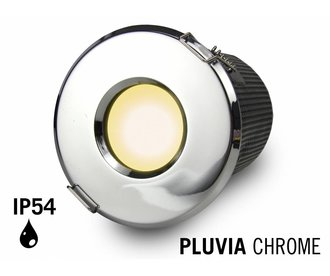 GU10 LED Inbouwspot Armatuur PLUVIA. IP54 Spatwaterdicht. Chroom
