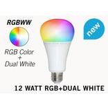 Mi·Light E27 RGB+Dual White 12 Watt Wi-Fi LED lampen. Complete set met Wifi Box en Remote!