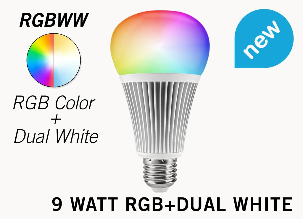 Mi·Light E27 RGB+Dual White 9 Watt Wi Fi LED Lampen.