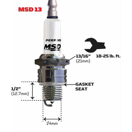 MSD ignition 13IR6Y Spark Plug, Single Pack