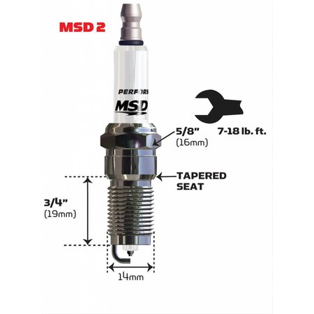 MSD ignition 2IR5L Spark Plug, Single Pack