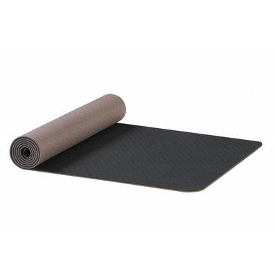 Ako Yoga Yin Yang Earth 6 mm TPE Yoga Mat Antraciet-Bruin