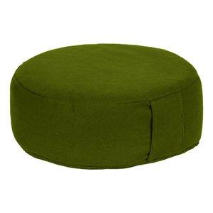 Meditatiekussen rond laag groen