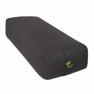 EcoYogi yoga bolster rectangular - antraciet