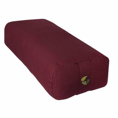 EcoYogi yoga bolster rectangular - bordeaux