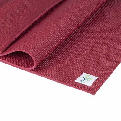 Ecoyogi Classic Yoga en Fitnessmat 183 cm - Ruby Red