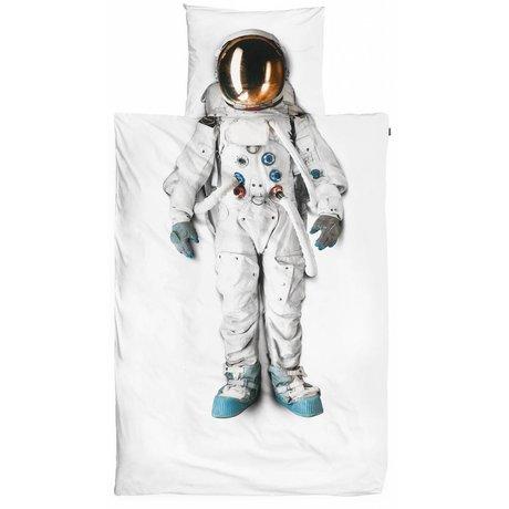 Snurk Beddengoed Bettwäsche Astronaut aus Baumwolle, weiß, 140x220cm