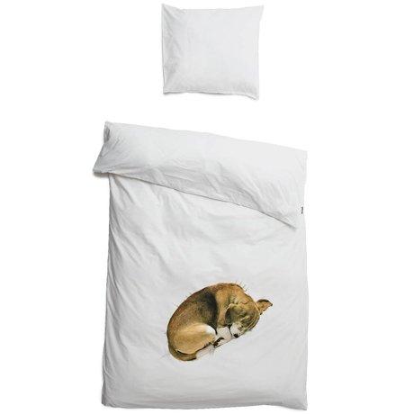 Snurk Beddengoed Literie chien Bob, blanc, 3 tailles