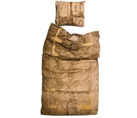 Snurk Linen cardboard, brown / cream, available in 3 sizes