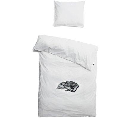 Snurk Beddengoed Bettwäsche Katze Ollie, weiß, in 3 Größen