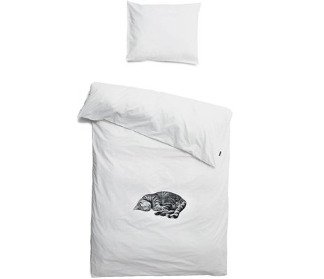 Snurk Beddengoed Linen kat Ollie, hvid 3 størrelser