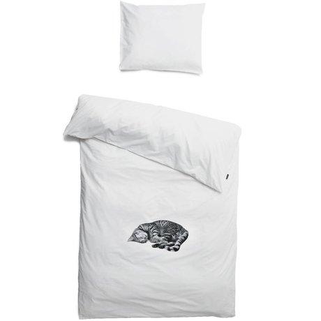 Snurk Beddengoed Lino Ollie gato, blanco, 3 tamaños