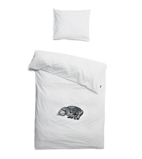 snurk bettw sche katze ollie wei in 3 gr en. Black Bedroom Furniture Sets. Home Design Ideas