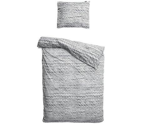 Snurk Beddengoed Twirre ropa de cama, gris, disponible en 3 tamaños