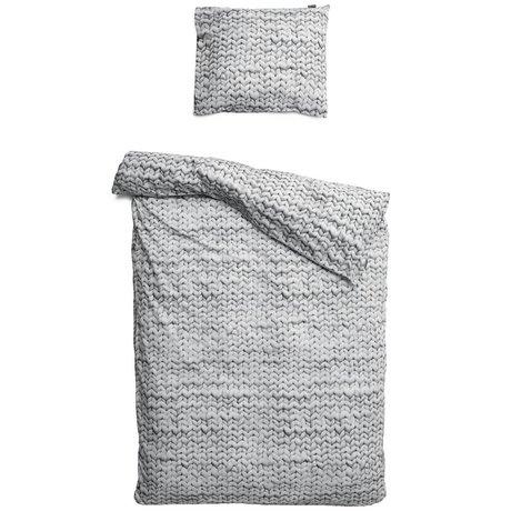Snurk Beddengoed Bettwäsche Twirre, grau, in 3 Größen