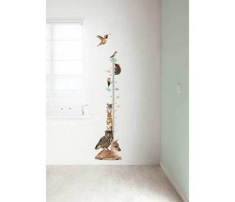 Kek Amsterdam Vægoverføringsbillede / målestok Forest Friends Set 1, multifarvet, 40x150cm