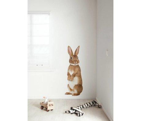 Kek Amsterdam Adesivo Coniglio XL Foresta Amico, multicolore, 43x118cm