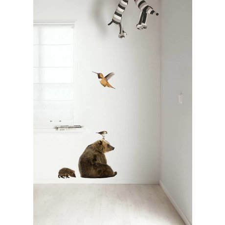 Kek Amsterdam Wall Decal Forest Friends Set 5, multicolor
