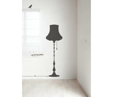 Kek Amsterdam Tatuajes de pared Vintage lámpara muebles, gris oscuro, 50x155cm