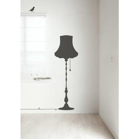 Kek Amsterdam Stickers muraux vintage Meubles Lampe, gris foncé, 50x155cm