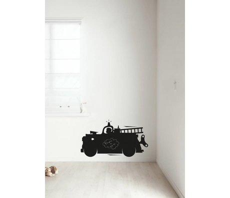 Kek Amsterdam Chalkboard film fire truck, black, available in 2 sizes