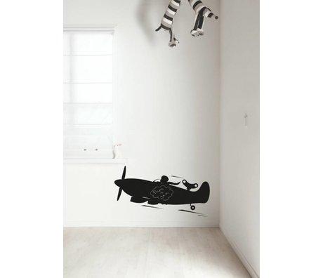 Kek Amsterdam Kreidetafelfolie Flugzeug, schwarz, in 2 Größen