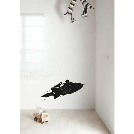 Kek Amsterdam Tableau de diapositives Rocket, noir, disponible en 2 tailles