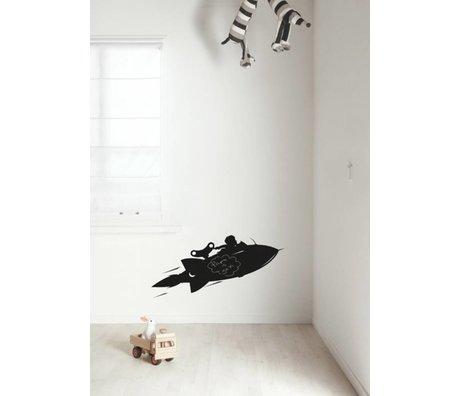Kek Amsterdam Kreidetafelfolie Rakete, schwarz, in 2 Größen