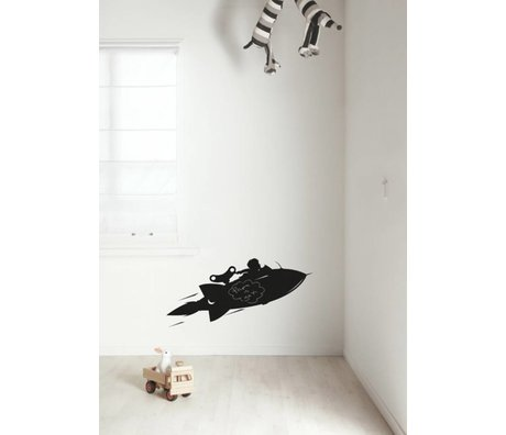 Kek Amsterdam Rocket slide chalkboard, black, available in 2 sizes