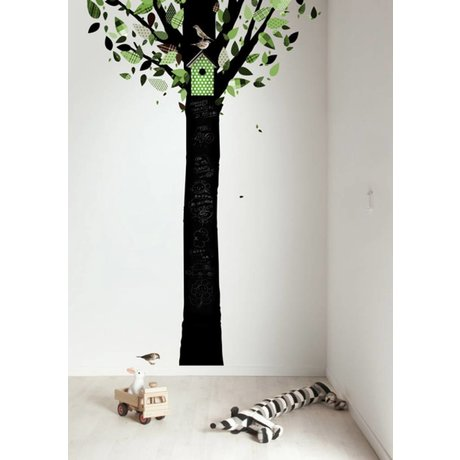Kek Amsterdam Chalkboard folie træ, sort / grøn, 185x260cm