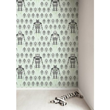 Kek Amsterdam Glowbot wallpaper, green, 8.3 MX47, 5cm, 4m ²