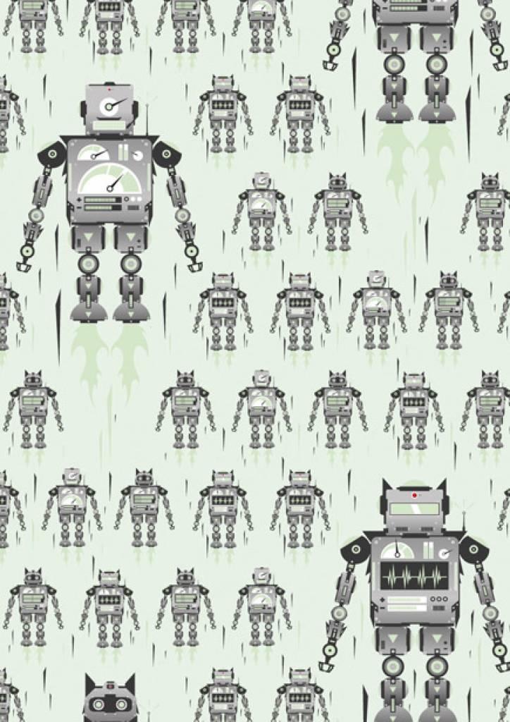 Ferm Living Tapete Roboter : startseite tapete glowbot gr?n 8 3mx47 5cm 4m? kek amsterdam tapete