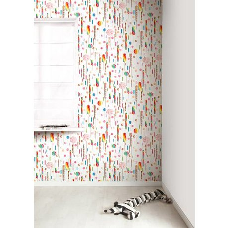 Kek Amsterdam Lolly fondo de pantalla, multi-color / blanco, 8.3 MX47, 5cm, 4m ²