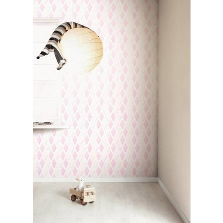 Kek Amsterdam Wallpaper bacon candy, pink / white, 8.3 MX47, 5cm, 4m ²