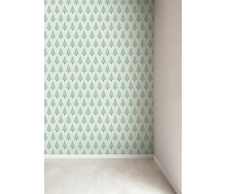 Kek Amsterdam Wallpaper Christmas trees, green, 8.3 MX47, 5cm, 4m ²