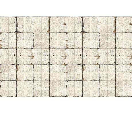 Merci Lattine Brooklyn carta da parati, bianco / crema, Tin-02