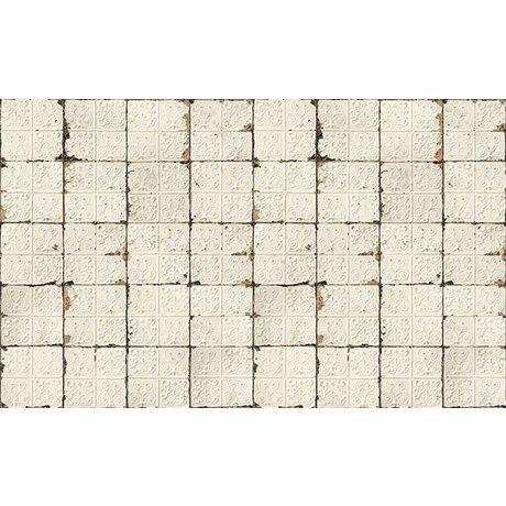 Merci Brooklyn Konserve duvar kağıdı, beyaz / krem, Kalay-02