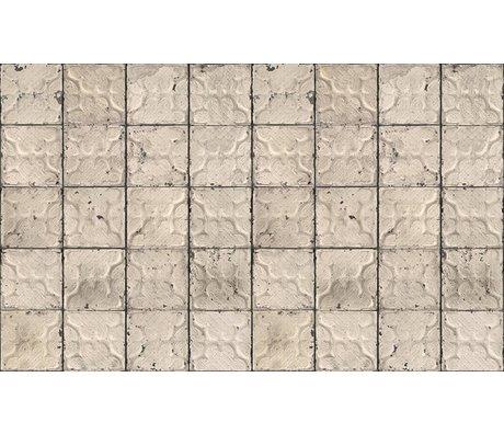 Merci Brooklyn Konserve duvar kağıdı, gri / krem, Kalay-03