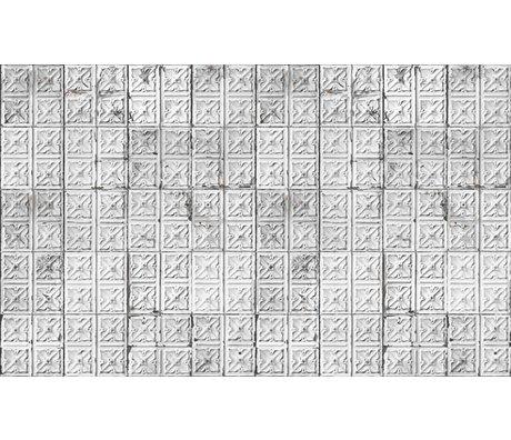 Merci Tapete Brooklyn Tins, grau/weiß, Tin-04