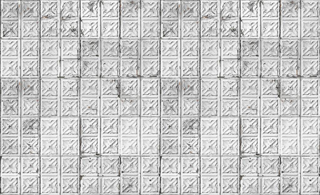 Merci Brooklyn Tins Papier Peint Gris Blanc Etain 04 Lefliving Com