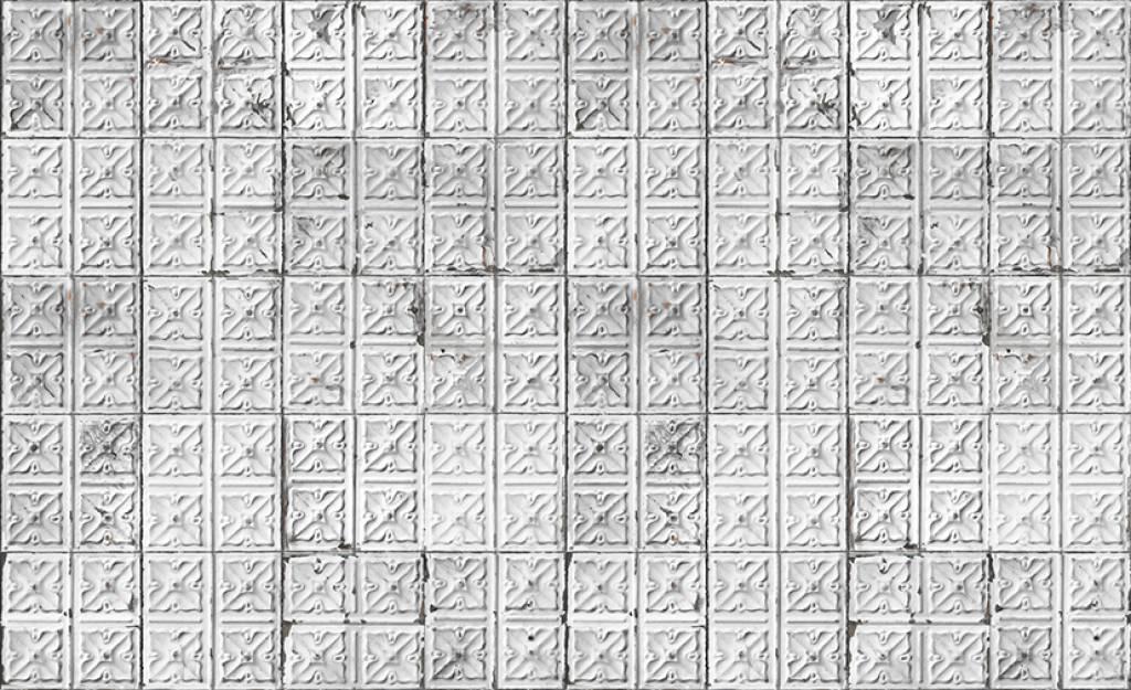 Merci lattine brooklyn carta da parati grigio bianco for Carta da parati da esterno